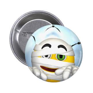 mummy smiley face 6 cm round badge