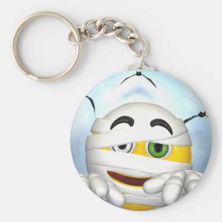 mummy smiley face key ring