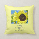 Mummy Snuggle Up with Me OK! pillow Sunflowers