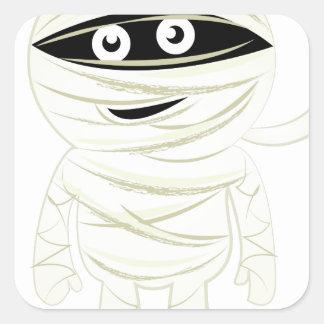 Mummy Square Sticker