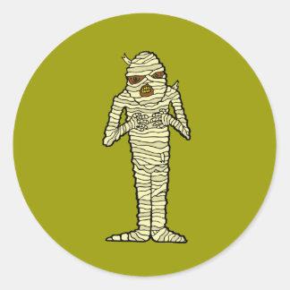 Mummy Round Stickers