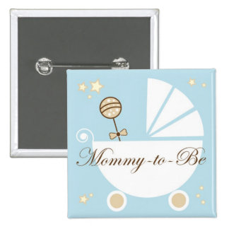 Mummy To Be 15 Cm Square Badge