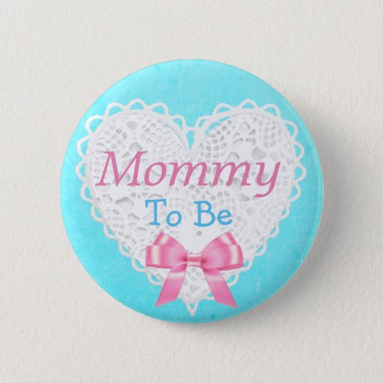 Mummy to be Blue and Pink Baby Shower Button