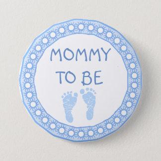 Mummy to be Blue Boy Baby Shower button