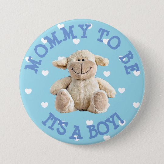 Mummy to be blue Lamb hearts Baby Shower
