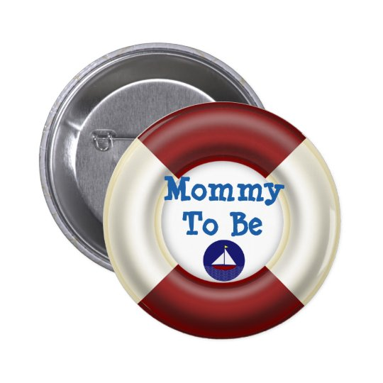 Mummy to be Nautical Baby Shower Button