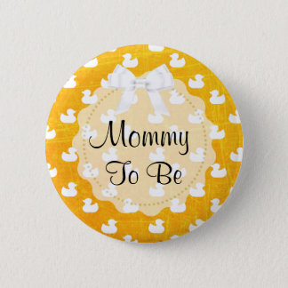 Mummy to be Orange Bow and baby Ducks Button