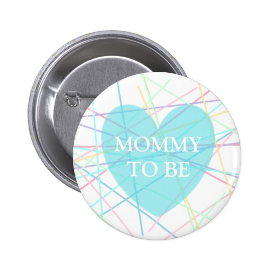 Mummy to be Pastel Lines Baby Shower Button