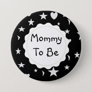 Mummy to be Stars, Moons and Heart Button