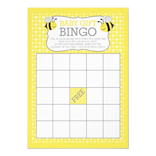 Mummy to Bee Baby Shower Baby Gift Bingo