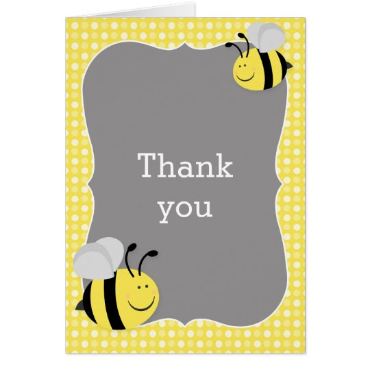 Mummy to Bee Baby Shower Thank You Card