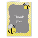 Mummy to Bee Baby Shower Thank You Note Card