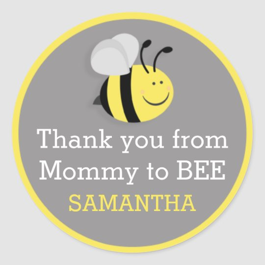 Mummy to Bee Baby Shower Thank You Stickers
