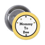 """Mummy To Bee"" Cute Bumble Bees Honeycomb Pattern 6 Cm Round Badge"