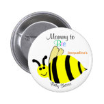 Mummy To Bee Cute Yellow Bumble Bee Baby Shower 6 Cm Round Badge