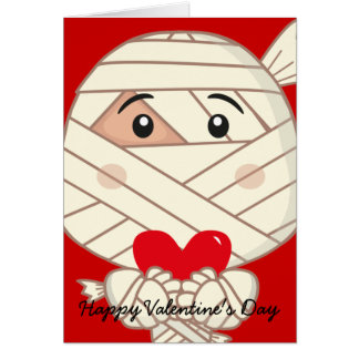 Mummy valentine Card