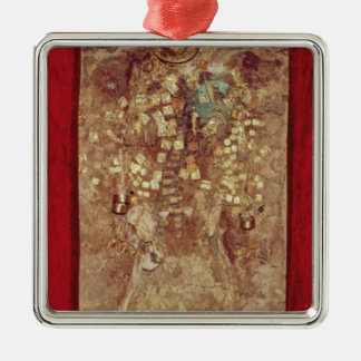 Mummy with gold crown and grave goods christmas ornament