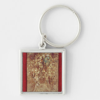 Mummy with gold crown and grave goods key ring