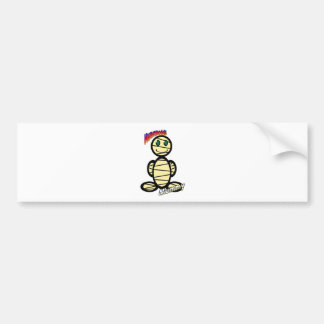 Mummy (with logos) bumper sticker