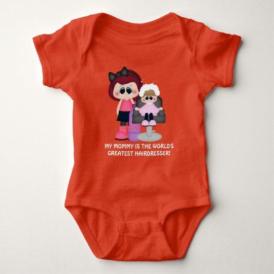 Mummy world's greatest hairdresser baby bodysuit