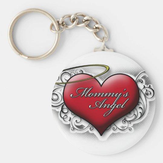 Mummy's Angel Basic Round Button Key Ring