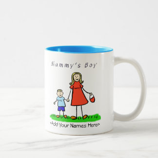 Mummy's Boy - Blond Mother & Son Custom Gift Mug
