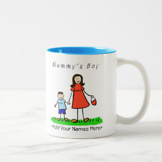 Mummy's Boy - Brunette Mother & Son Custom Mug