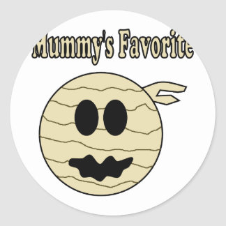 Mummy's Favorite Round Sticker