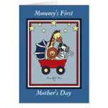 Mummy's First Mother's Day- Americana Style Greeting Card