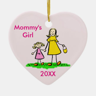 Mummy's Girl Family Character Custom Ornament