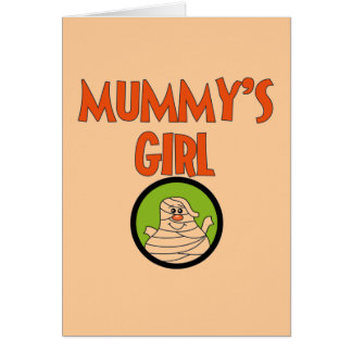 Mummy's Girl T-shirts and Gifts Greeting Card