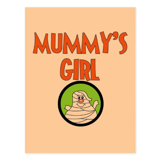 Mummy's Girl T-shirts and Gifts Postcard
