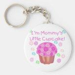 Mummy's Little Cupcake Basic Round Button Key Ring