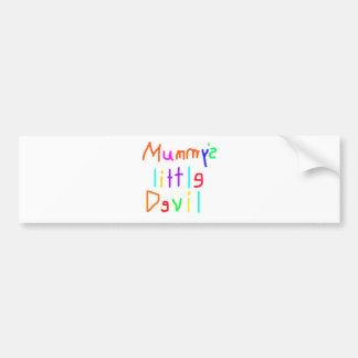 Mummy's Little Devil Bumper Sticker