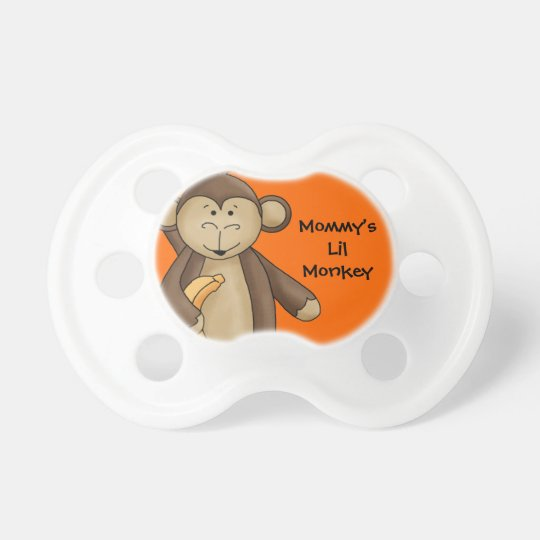 Mummy's Little Monkey Cute Cartoon For Baby Dummy