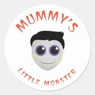 Mummy's Little Monster Classic Round Sticker