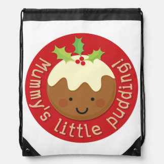 Mummy's Little Pudding Drawstring Bag