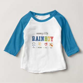 Mummy's Little Rainboy | Rainbow Baby Boy |Varsity Baby T-Shirt