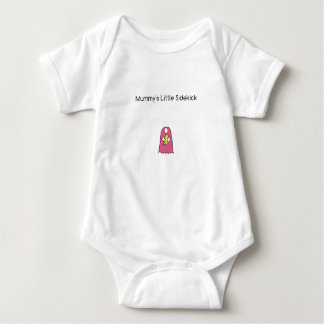 Mummy's Little Sidekick superhero cape pink Baby Bodysuit