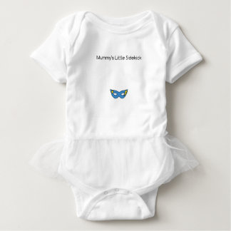 Mummy's Little Sidekick superhero mask blue Baby Bodysuit