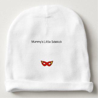 Mummy's Little Sidekick superhero mask unisex Baby Beanie