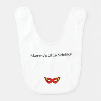 Mummy's Little Sidekick superhero mask unisex Bibs