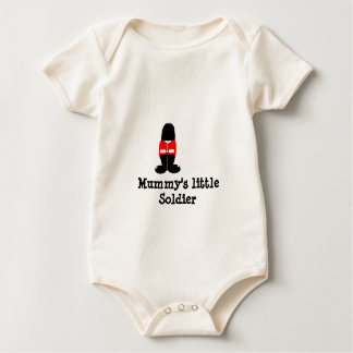 , Mummy's little Soldier Baby Bodysuit