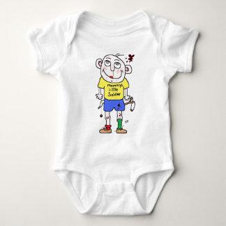 mummys little soldier baby bodysuit