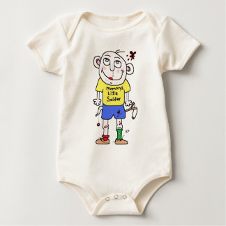 mummys little soldier baby bodysuit