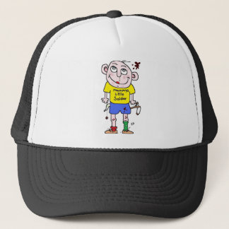 mummys little soldier trucker hat