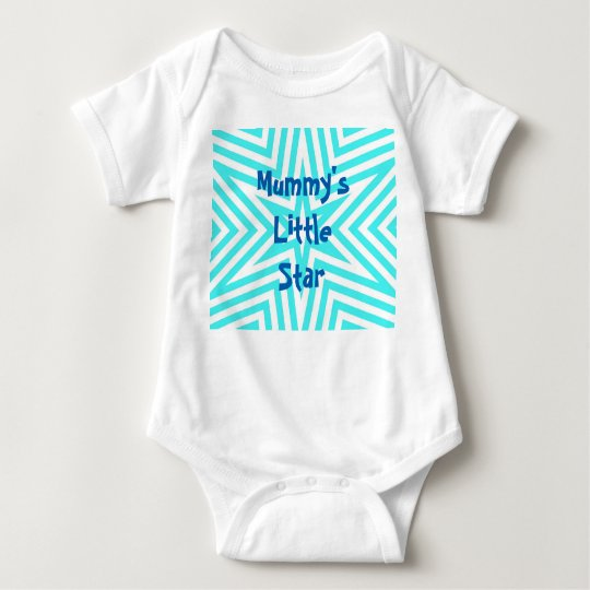 Mummy's little star vest baby bodysuit