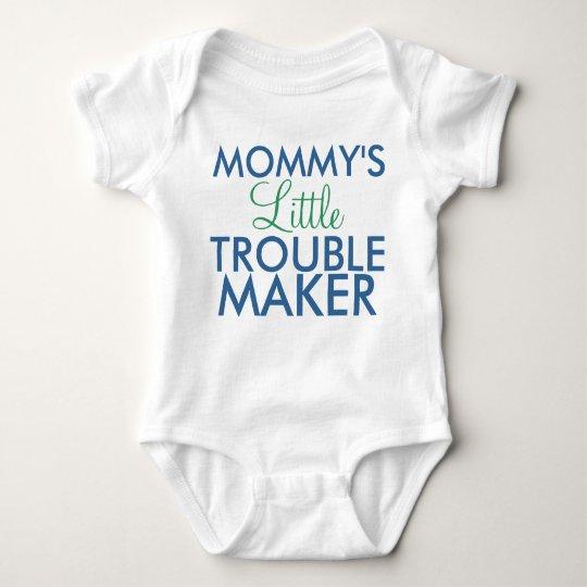 Mummy's Little Trouble Maker Blue Baby Bodysuit