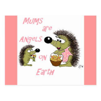 Mums are Angels on Earth Postcard