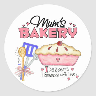 Mums Bakery Gift Classic Round Sticker